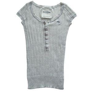 Abercrombie 100% Cotton Beige Short Sleeve Top
